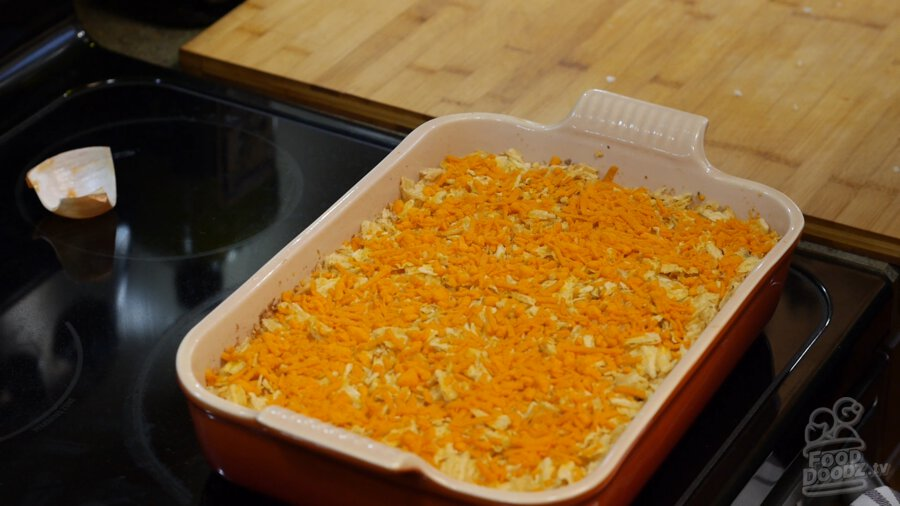Cooked Vegan hashbrown casserole