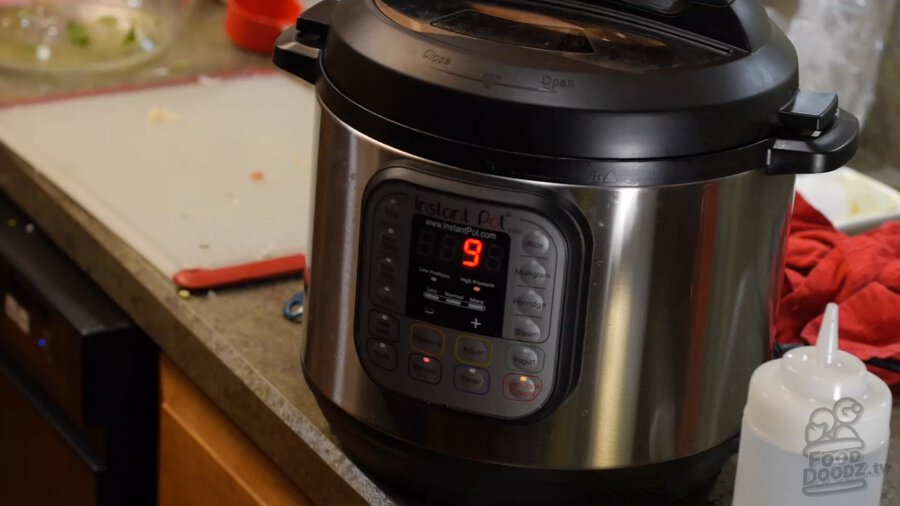 Setting instant pot for 9 minutes