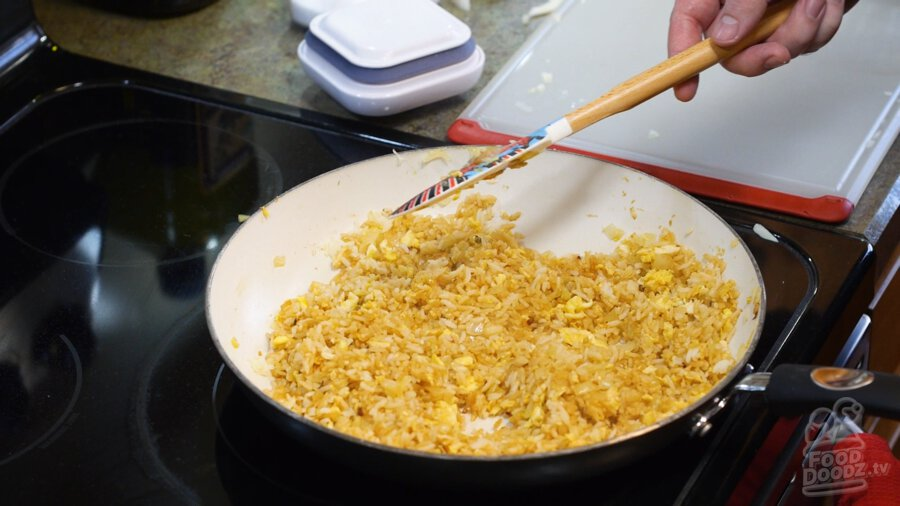 Finished fried rice