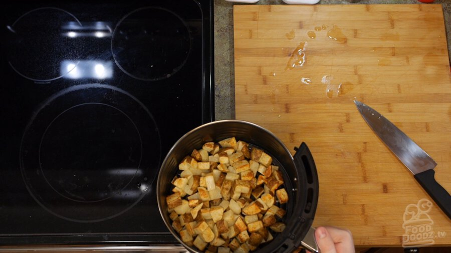 Potatoes afrer 12 minutes of cooking