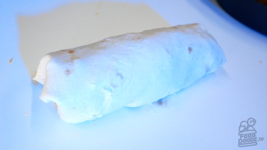 Our finished burrito