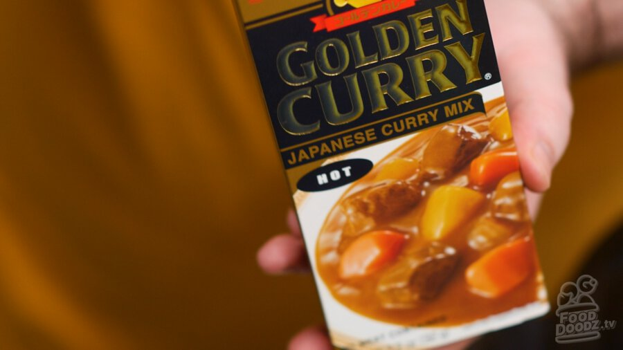 Our boxed curry sauce or roux